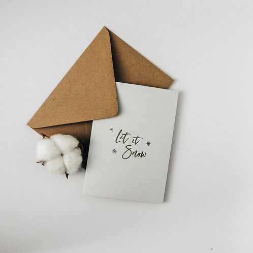 Let it snow luxury Christmas card