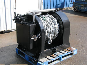 Our Anchor Winch, A popular item we build here at Fred Wahl Marine. Hydraulically driven, this winch is very strong and reliable. It is made of galvanized steel and coated with top quality marine paint, this Anchor Winch can withstand harsh conditions.