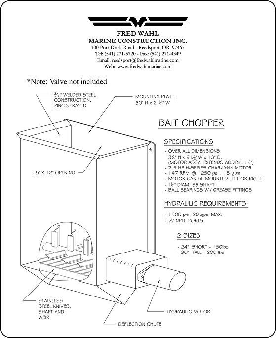 FISHING VESSEL BAIT CHOPPERS | STAINLESS & GALVANIZED BAIT CHOPPERS