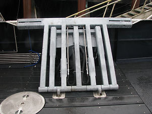 We build a very strong and reliable pot launcher to help make launching pots easier. We understand how dangerous being on deck is, so we make safe and sturdy, hydraulic driven pot launcher that is made from quality galvanized steel and can withstand the ocean elements.