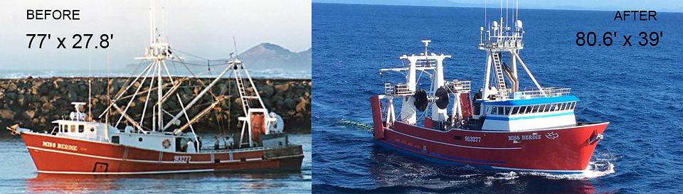 Fishing Vessel Sponson | Boat Repair Service | F/V Miss Berdie