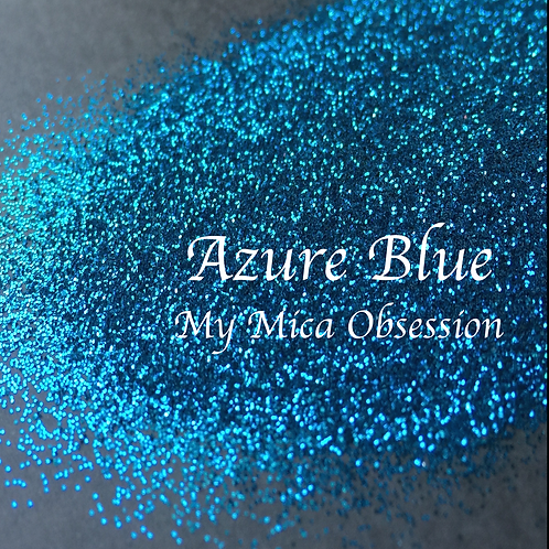 Azure Blue - Metallic Glitter