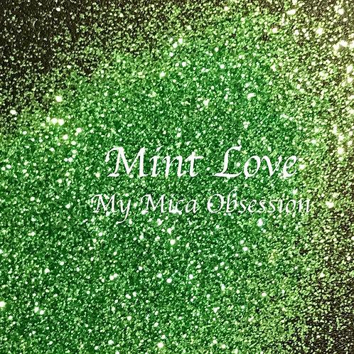 Mint Love Metallic Glitter