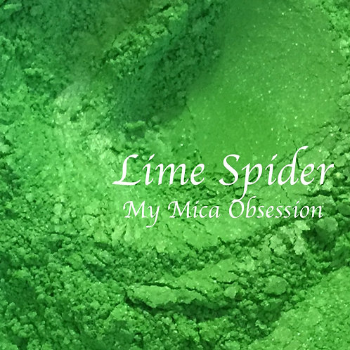 Lime Spider Mica