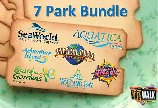 7 Park Combo ticket deal Orlando