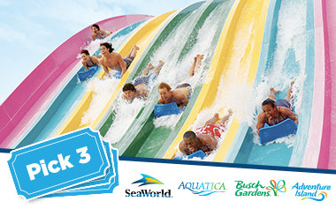 SeaWorld - 3 Parks - ONLY $38.99 PER PARK All Ages