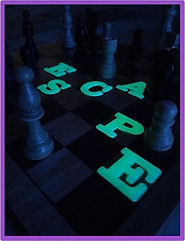 mysterious diy escape room puzzle with chess board