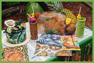 diy tropical island escape room kit