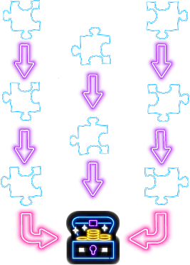 diagram of non linear escape room puzzle layout