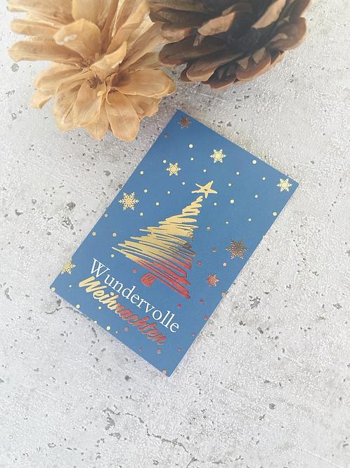 Mini Kärtchen •Winterwonderland• mit Goldmetallic