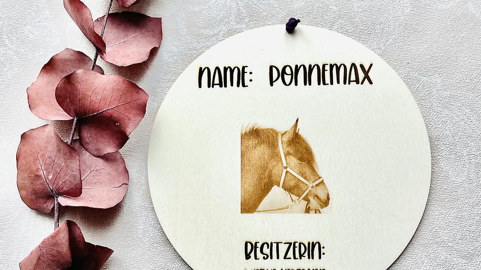Pferdebox / Tierschild Boxenschild