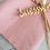 Thumbnail: Geschenkpapier 50x300cm Kraftpapier rosa/stars