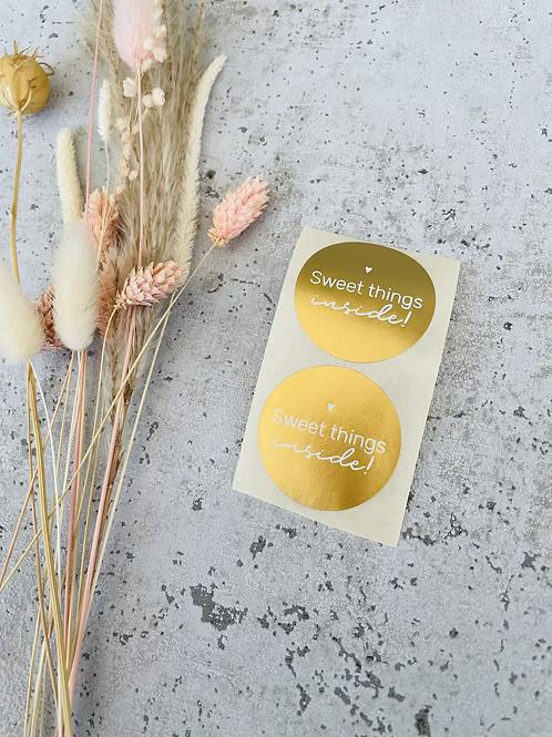 Sticker •sweet things gold• 10 Stk.