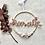 Thumbnail: Türschild Namensschild Baby Kind Boho