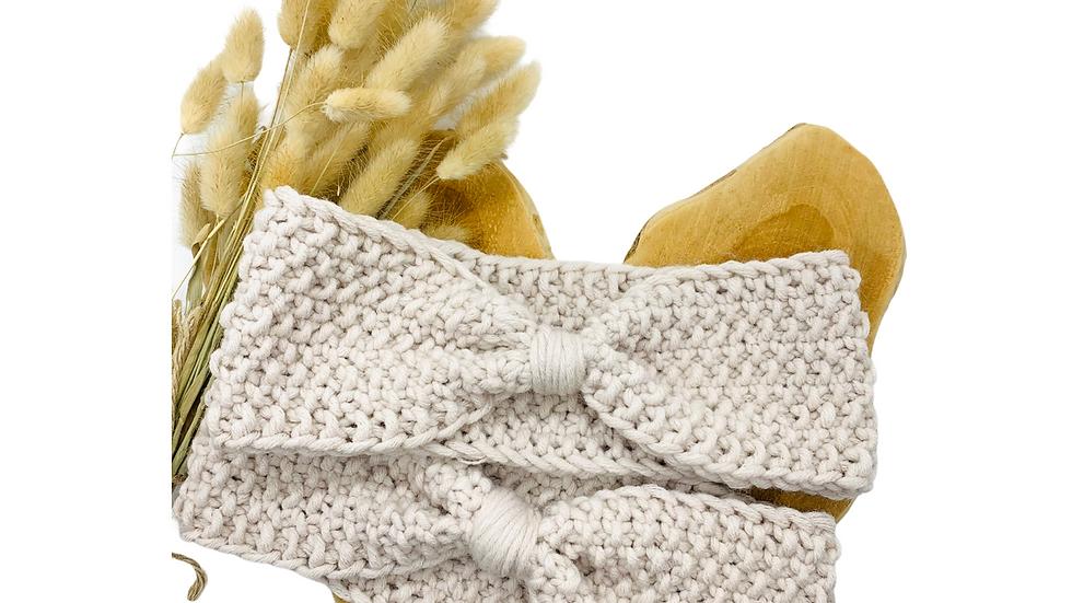 Stirnband Wolle Standard gebunden