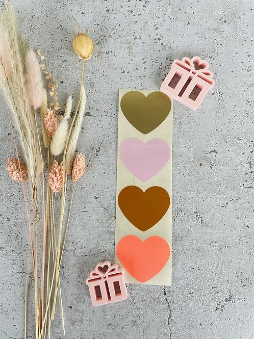 Sticker •rosa/gold• 10 Stk.