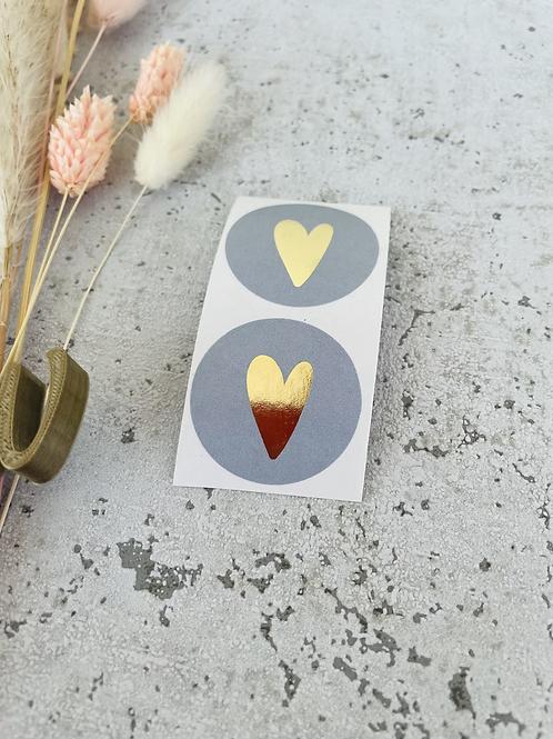 Sticker •new grey Gold• 10 Stk.