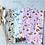 Thumbnail: Papier Taschen Blumen Gold