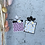 Thumbnail: Anhänger Geschenkeform Weiß/ Rosa