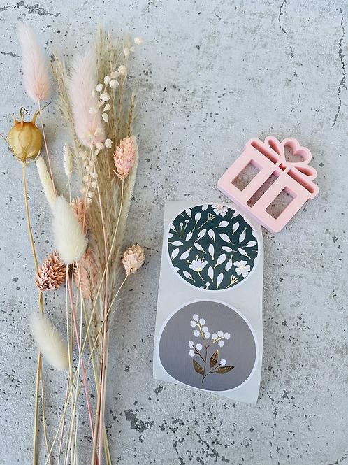 Sticker •Blumen Gold• 10 Stk.
