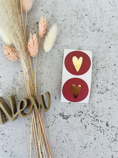 Sticker •new kissed red Gold• 10 Stk.