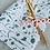 Thumbnail:  Geschenkpapier  50x300cm Kraftpapier Blumen blau metallic