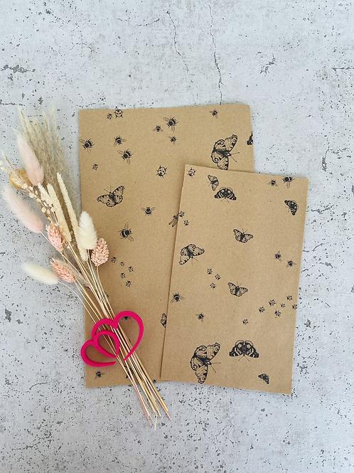 Papier Taschen Kraftpapier •Schmetterling• 10 Stk.
