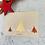 Thumbnail: Weihnachtskarte Winterwald mit Goldmetallic
