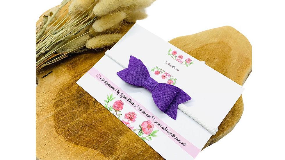 Haarband mit Schleife lila