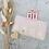 Thumbnail: Sticker •Rosa mit Golddruck• 10 Stk.