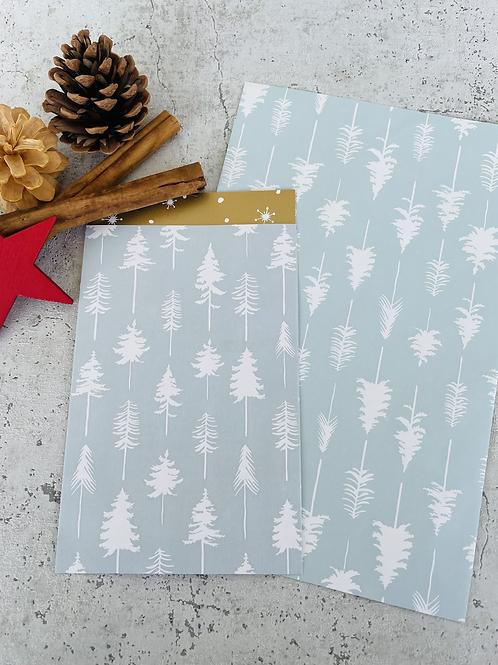 Papier Taschen  •Tannenbaum /Stars gold• 10 Stk