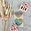 Thumbnail: Sticker Herz Regebogen 10 Stk.
