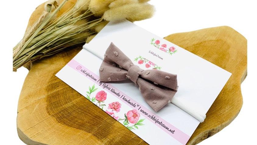 Haarband mit Schleife Lavendel Dots