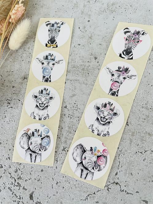 Sticker •Zootiere• 10 Stk.