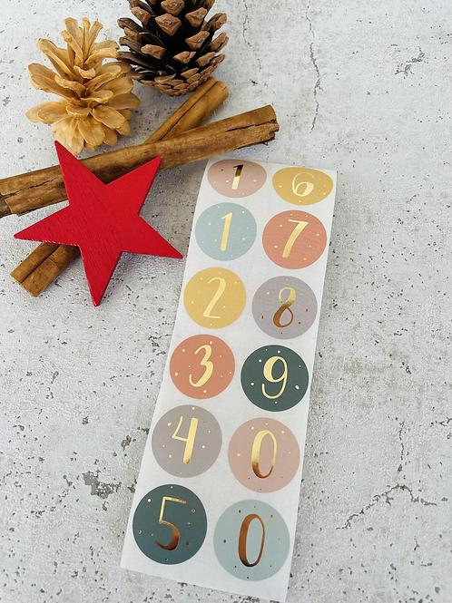 Sticker •Zahlen gold• 10 Stk.