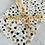 Thumbnail: Seidenpapier  Goldene Punkte