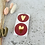 Thumbnail:  Sticker •new kissed red Gold• 10 Stk.