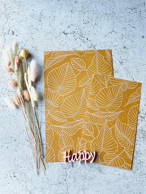 Papier Taschen Senfgelb Blätter 10 Stk