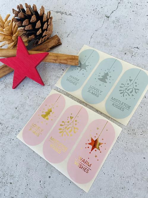 Sticker •Mistletoe kisses gold• 10 Stk.