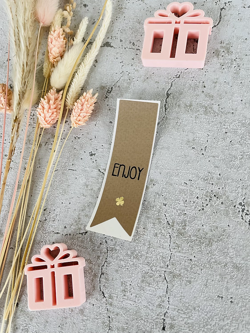 Sticker •Enjoy Gold• 10 Stk.