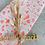Thumbnail: Geschenkpapier  50x300cm Kraftpapier Blumen neon