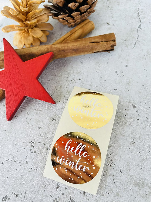 Sticker •hello Winter gold• 10 Stk.