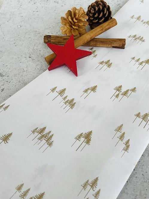 Seidenpapier •Weihnachtsbaum gold•