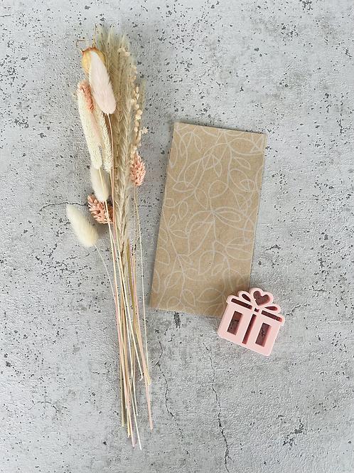 Papier Taschen Kraftpapier geschnörkelt natur