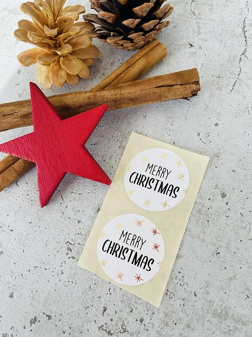 Sticker •Merry Christmas gold• 10 Stk.