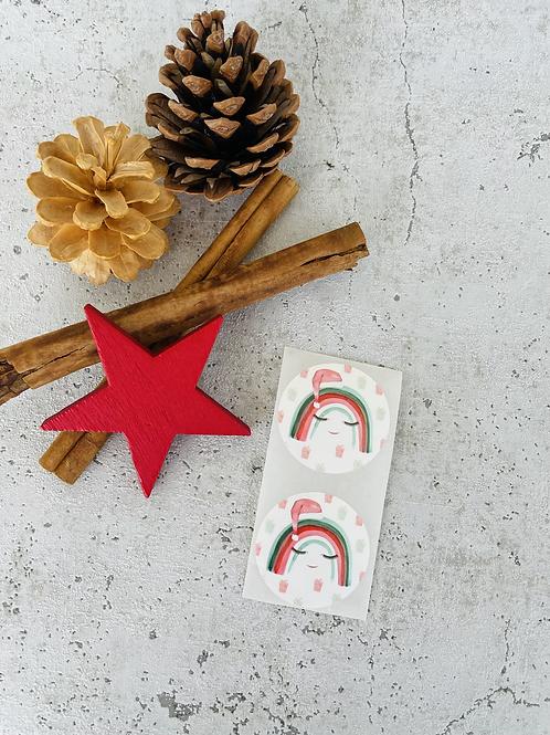 Sticker •Regenbogen Weihnachten • 10 Stk.