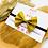 Thumbnail: Haarband mit Schleife Gold Glitzer