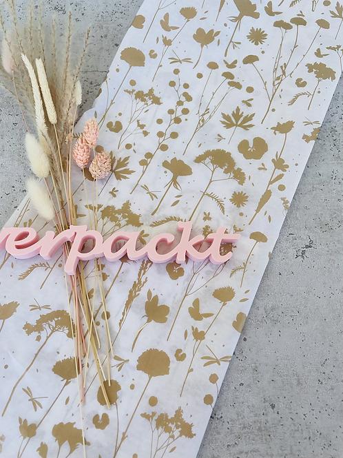 Seidenpapier •golden flowers•