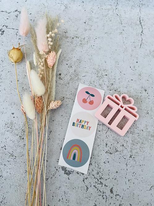 Sticker Regenbogen/Kirsche