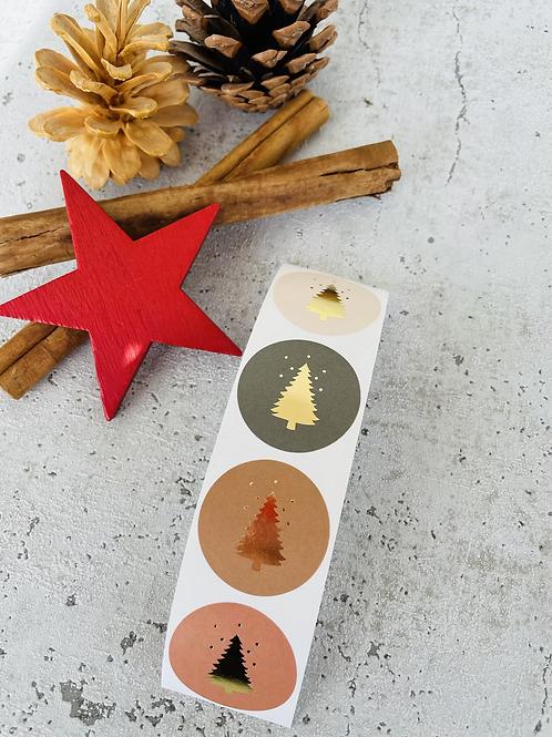Sticker •Tannenbaum gold• 10 Stk.